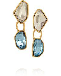 Oscar de la Renta Goldplated Swarovski Crystal Clip Earrings - Lyst