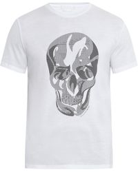 Alexander McQueen Skull-print Cotton T-shirt - Lyst