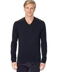 Calvin Klein Cotton V Neck Sweater - Lyst