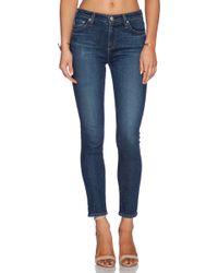 AG Adriano Goldschmied The Brianna Skinny High-waisted Stretch-denim Jeans - Lyst