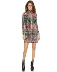 Nanette Lepore Handloom Shift Dress  Sand Multi - Lyst