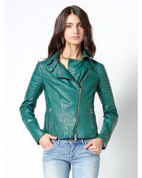 Patrizia Pepe Leather Jacket Biker Look - Lyst