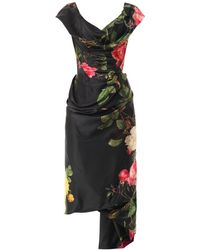 Vivienne Westwood Gold Label - Mini Cocotte Floral-Print Satin Dress - Lyst