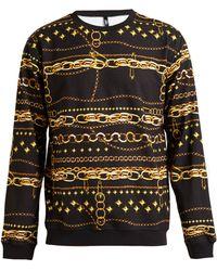 Versus  Chain Print Sweatshirt - Lyst