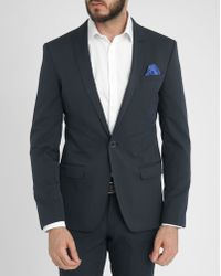 Celio Club Navy Slim-Fit Suit Jacket - Lyst