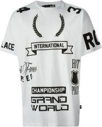 Love Moschino White Printed T-Shirt - Lyst