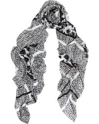 Marc By Marc Jacobs Aki Floral Print Voile Scarf - Lyst