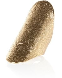 River Island Gold Tone Textured Elongated Ring - Lyst