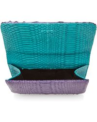 Metalskin - One Of A Kind Madison Clutch In Purple Haze - Lyst