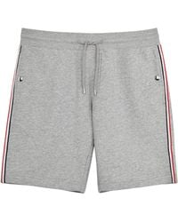 Moncler - Grey Cotton Jersey Shorts - Lyst