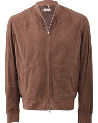 Brunello Cucinelli Perforated Suede Bomber - Lyst