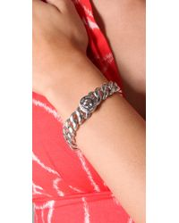 Marc By Marc Jacobs - Turnlock Small Katie Bracelet - Argento - Lyst