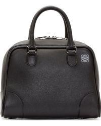 Loewe Black Leather Amazona Bag - Lyst