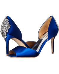 Badgley Mischka Maxine blue - Lyst