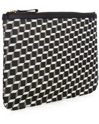 Pierre Hardy - Cube-print Coated-canvas Pouch - Lyst