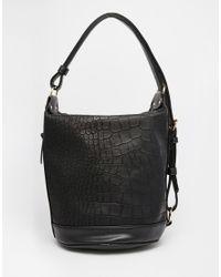 ASOS | Croc Slouch Shoulder Bag | Lyst