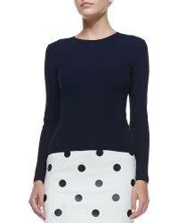 Ralph Lauren Collection Cashmere Long-Sleeve Crewneck Sweater - Lyst