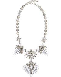 River Island White Clustered Gem Stone Statement Necklace - Lyst