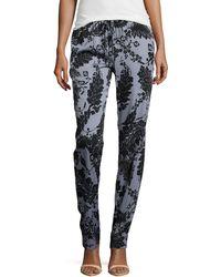 Diane Von Furstenberg Floral Lace-print Jumpsuit Pants - Lyst