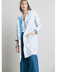 Free People Floral Ripstop Co blue - Lyst