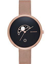 Skagen - Skw2371 Women's Gitte Stainless Steel Mesh Bracelet Strap Watch - Lyst