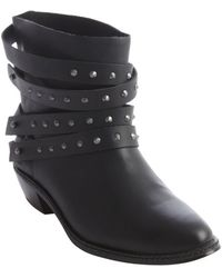 Joe's Jeans Black Leather Studded Detail 'Sam' Ankle Boot - Lyst