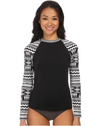 Seafolly Future Tribe Long Sleeve Sunvest black - Lyst