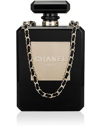 Madison Avenue Couture - Chanel Collector'S Black No 5 Perfume Bottle Evening Bag - Lyst