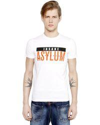 DSquared² Asylum Printed Cotton T-Shirt - Lyst