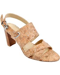 Adrienne Vittadini | Gilberto Suede Leather High-Heel Sandals | Lyst
