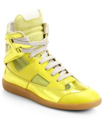 Maison Margiela Future Leather High-Top Sneakers - Lyst
