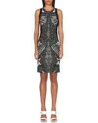 Roberto Cavalli Graphic-Print Stretch-Jersey Dress - Lyst