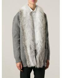 Ermanno Scervino Fur Trimmed Cardigan - Lyst