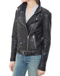 VEDA | Jayne Classic Leather Jacket Black | Lyst