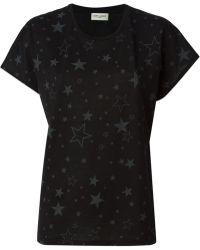 Saint Laurent Black 'Superstar' T-Shirt - Lyst