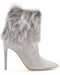 Ralph Lauren Collection Shearling-cuff Tania Bootie - Lyst