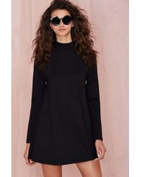 Nasty Gal On Mock Down Dress - Lyst