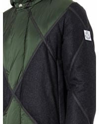 Moncler Gamme Bleu - Quilted Wool-panel Down Parka - Lyst