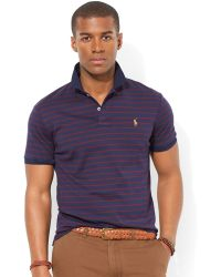 Ralph Lauren Polo Striped Pima Soft Touch Polo - Lyst