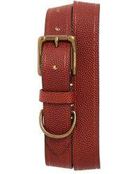 Bills Khakis - Football Leather Belt - Lyst