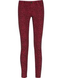 Alice + Olivia Animalprint Stretchjersey Skinny Jeans - Lyst