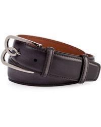Berluti - Metal-logo Leather Belt - Lyst
