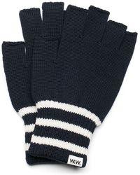 WOOD WOOD | Navy Stripe Half Finger Gloves | Lyst