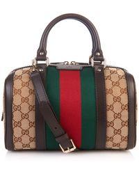 Gucci Vintage Web Original GG Canvas Tote Bag - Lyst