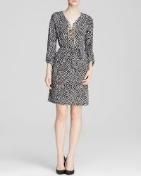 MICHAEL Michael Kors Domasi Lace Up Chain Dress - Lyst