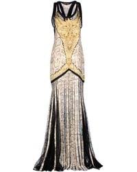 Roberto Cavalli Long Dress beige - Lyst