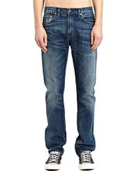Levi's New Season - Levi'S Vintage Mens Straight Fit 1967 505 Frank And Ernest Washed Selvedge Denim Jeans - Lyst