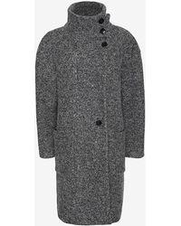 Iro Oversized Collar Coat Grey - Lyst