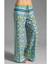 Clover Canyon - Art Deco Tiles Wide Leg Pants - Lyst