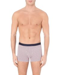 Derek Rose Tile-print Stretch-cotton Hipster Trunks - For Men - Lyst